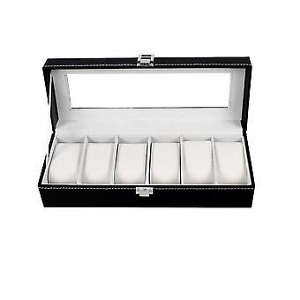 6-grids Watch Box- Wrist Watches Organizer, Storage Holder
