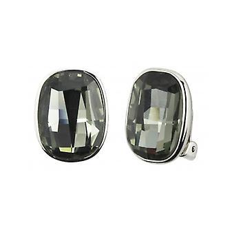Traveller - Clip Earring - Swarovski Crystals  - Platinum Plated - 155901 - 955