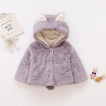 Orecchie Peluche Baby Jacket, Christmas Sweet Princess Coat