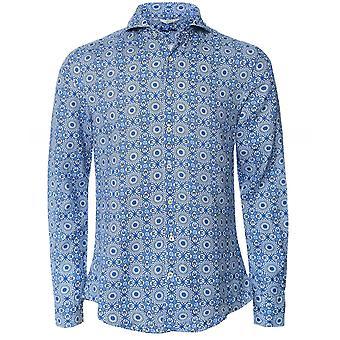 Stenstroms Slimline Linen Mosaic Shirt