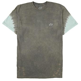 Lost a-frame wash tee charcoal mineral & tie dye