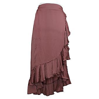 ليزا رينا جمع تنورة سحب على التفاف فو مع الكشكشة الوردي A305085