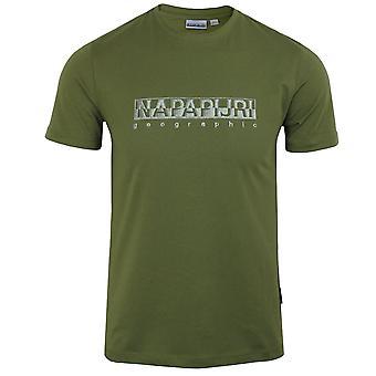 Napapijri sallar men's green cypress t-shirt