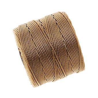 Super-Lon (S-Lon) Cord - Size #18 Twisted Nylon - Light Brown / 77 Yard Spool