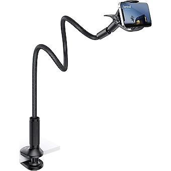 FengChun Handy Halter für Bett, Schwanenhals Handy Halterung - Flexible Lang Arm Handy Ständer für
