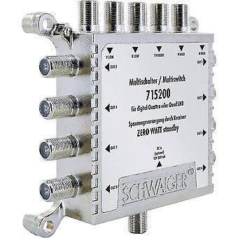 FengChun -5200- Multischalter 5 -> 8 / Verteilt 1 SAT-Signal auf 8