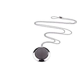 """by - """"Hannah"""" long necklace, with 20 mm Polaris pearls, in a silver-plated ring on a 70 cm ball chain, Ref. 425118864733"""