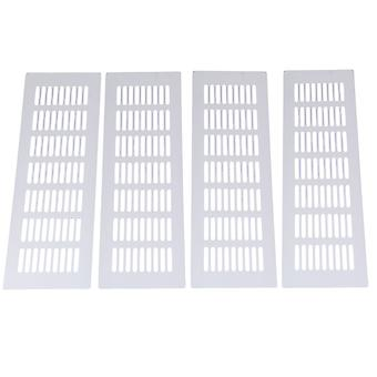 4pcs 11,81 Zoll Silber Air Vent Louvred Grille Abdeckung Lüftung Grille