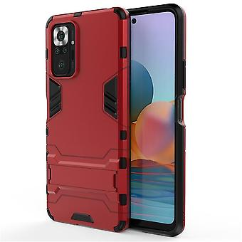 Shockproof case for xiaomi 10s with kickstand red pc5140