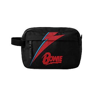 Rocksax David Bowie Wash Bag - Lightning Black