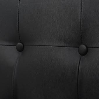 vidaXL 2-Sitzer-Sofa mit Armlehnen Kunstleder und Stahl Schwarz