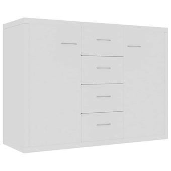 vidaXL Sivulevy Valkoinen 88 x 30 x 65 cm Lastulevy