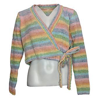 WVVY by Fitty Britttty Women's Sweater Reg Rainbow Wrap Pink 729667