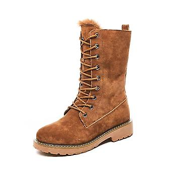 Leather Snow Boots For Woman, Winter Boots