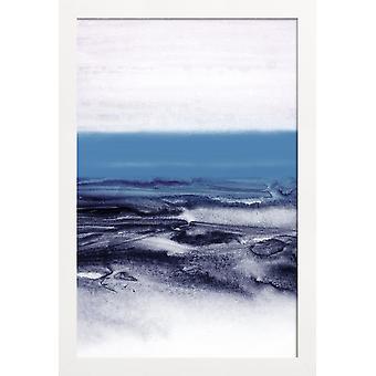 JUNIQE Print -  Watercolor Landscape Blue - Abstrakt & Geometrisch Poster in Blau & Grau