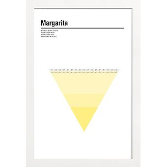 JUNIQE Print - Margarita - Cocktails Poster en jaune & blanc