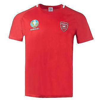 Switzerland 2021 Polyester T-Shirt (Red)