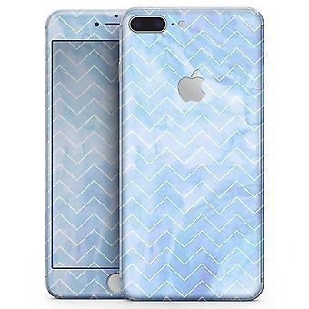 Blue Watercolor Chevron - Skin-kit para el iphone 8 u 8 Plus
