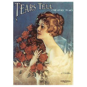 Portada de Música Vintage Tears Tell (The Story To Me) - Cuadro Lienzo, Impresión Digital