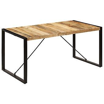 vidaXL طاولة الطعام 160 × 80 × 75 سم خشب المانجو الصلبة