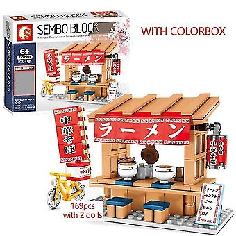 Japanilainen katuruokakaupan rakennuspalikat (punainen)