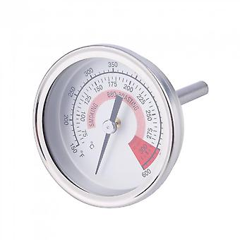 Stainless Steel Barbecue Bbq Pit Smoker Grill Thermometer Gauge 300 Centigrade