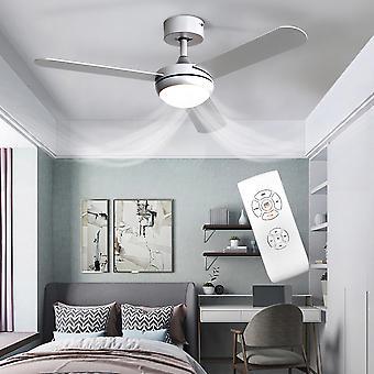 Ventilateur de plafond argenté de 42 pouces avec kit d'éclairage LED, 3 lames et télécommande