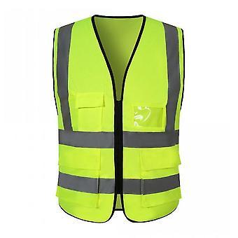 Highlight Reflective Vest Multi-pocket Traffic Road Night Work Security Clothing Vest High