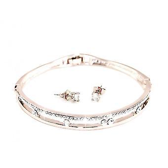 Anabelle Set verkrustet mit Kristallen von Swarovski - Silber