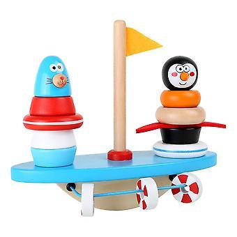 Petit pied Au pôle Sud Jeu de puzzle et balancement Rocker Jouet en bois