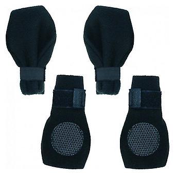 "Fahion Pet Arctic Fleece Dog Boots - Black - X-Small (2.25"" Paw)"
