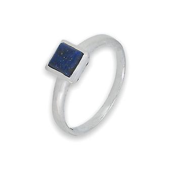 Ring Silber 925 Sterlingsilber Lapis Lazuli blau Stein (Nr: MRI 201)