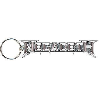 Megadeth sleutelhanger: grijs logo (gegoten reliëf)
