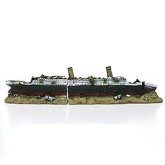 Akvárium Titanic Středomořský model Loď Dekorace Umělé vraky Domů Přístupová pryskyřice