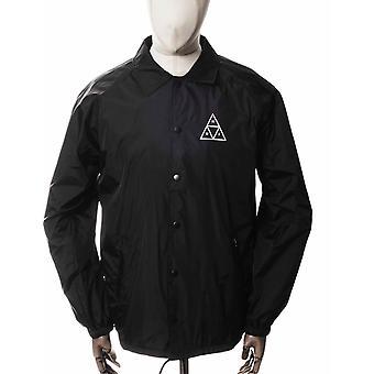 Huf Triple Triangle Coach Jacket - Black