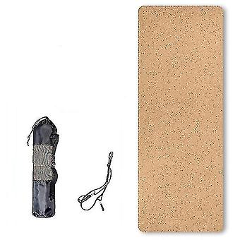 Yoga pilates mats scandinavian style eco friendly natural cork tpe yoga mat for fitness and training db016