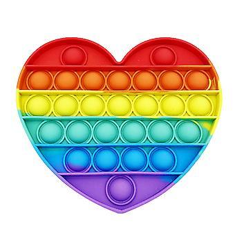Homemiyn Regenboog Knaagdier Pioneer Toys Silicone Toys Fun Board Game Rainbow Heart Shape, vrije tijd Decompressie Speelgoed