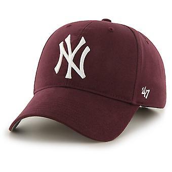 47 Brand New York Yankees MVP Baseball Cap Burgundy 21