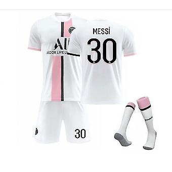 Messi #30 Jersey New Season Paris Soccer T-shirts Jersey Set Adult Children Purple