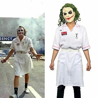 Scary Movie Batman The Dark Knight Joker Nurse Dress Uniform Cosplay Costume