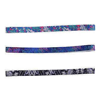 3pcs Printing Yoga Fitness Hair Band  Lightweight Thin Sweatband