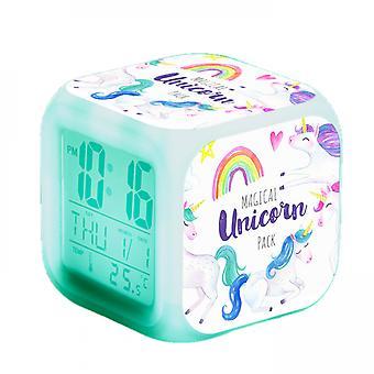 Touch  Girls Alarm Clocks, Unicorn Night Light Kids Alarm Clocks With 3 Sided Unicorn  Kinds Of Led Glowing Wake Up Bedside Clock Gifts #5