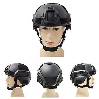 Schwarzer taktischer Helm Militärhelme Schutzhelme Cs Gaming Helme