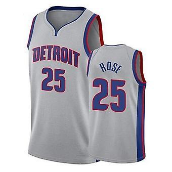 Men's Basketball Jersey #23 Geiffin #25 Derrick Rose Detroit Pistons Association Edition Swingman Jersey Outdoor Sports T-shirt Basketball Uniform