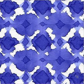 Aquarelle sininen V Juliste Tulosta Nancy Green Design