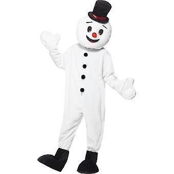 Om de zapada costum imens de plus mascota Snowman Crăciun