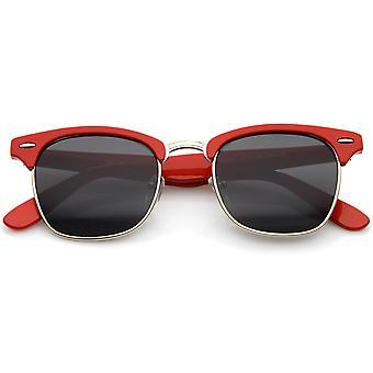 Premie halve Frame metalen klinknagels hoorn omrande zonnebril 50mm