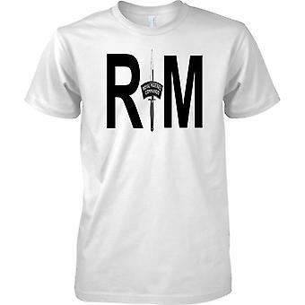 Puñal comando RM - Royal Marines - las fuerzas de élite Naval - para hombre T Shirt