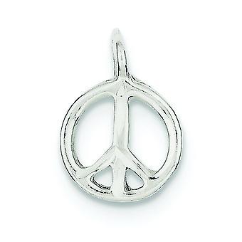 925 Sterling Argent Poli Peace Charm Pendant Necklace Bijoux Bijoux pour les femmes - 1.0 Grammes