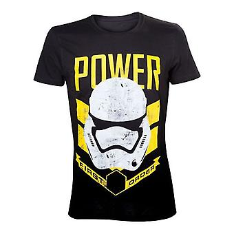 Star Wars Force desperta Mens primeira ordem poder t-shirt grande preto TS204399STW-L